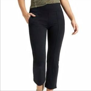 Athleta Metro Crop Kick Flare Pants Black XL